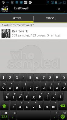 h2 220x391 See whos remixed and covered your favorite songs with WhoSampled for Android