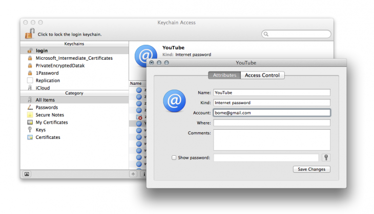 keychain 730x419 8 lesser known, but very useful, Apple Mac utilities
