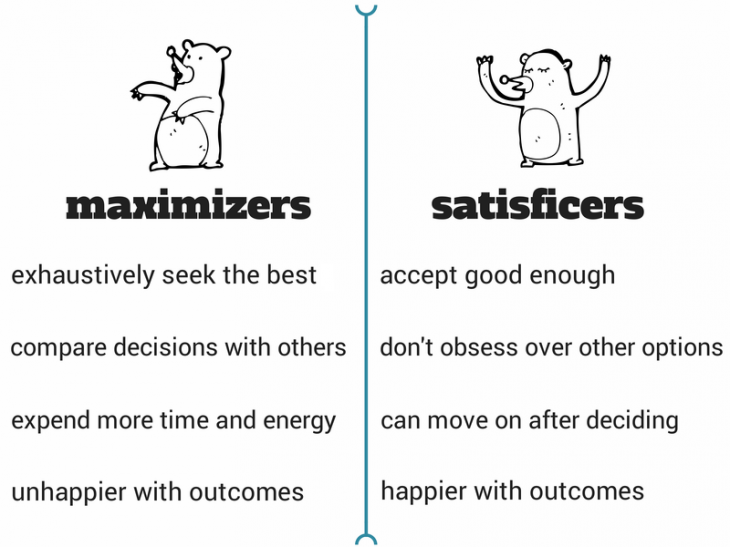 maximizer1 730x547 How being satisfied with good enough is actually optimal