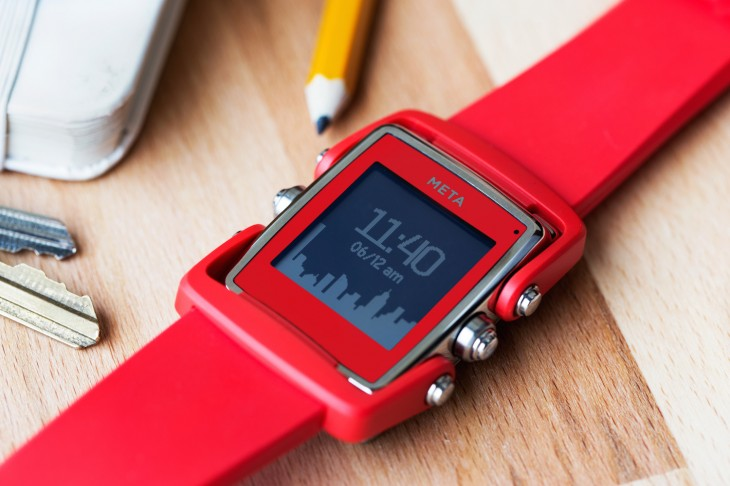 meta m1 red 730x486 Meta M1: A smartwatch that you won't be ashamed to wear