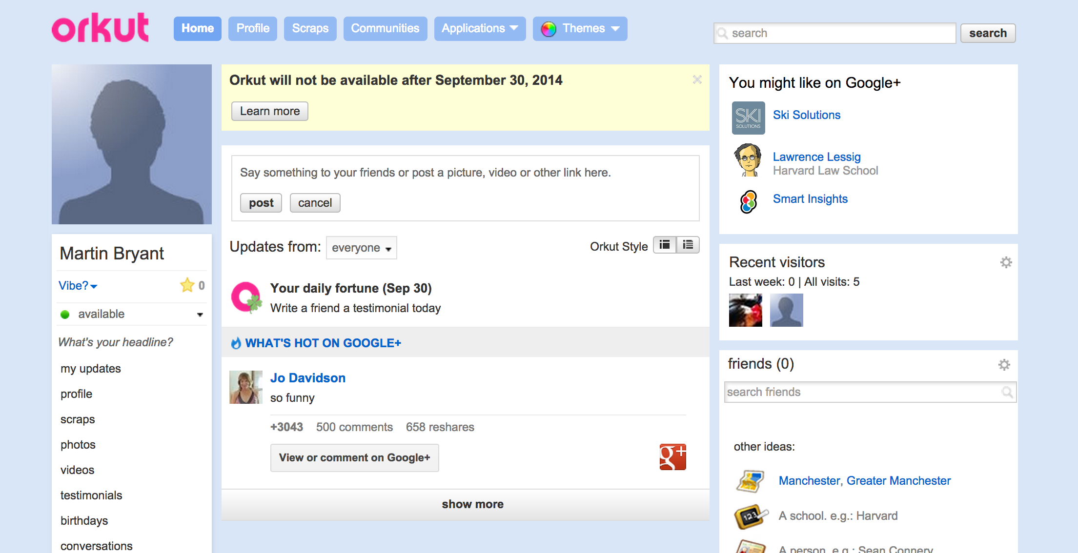 Google Shuts Down its Orkut Social Network