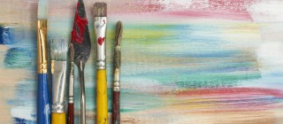 paint brushes colors design
