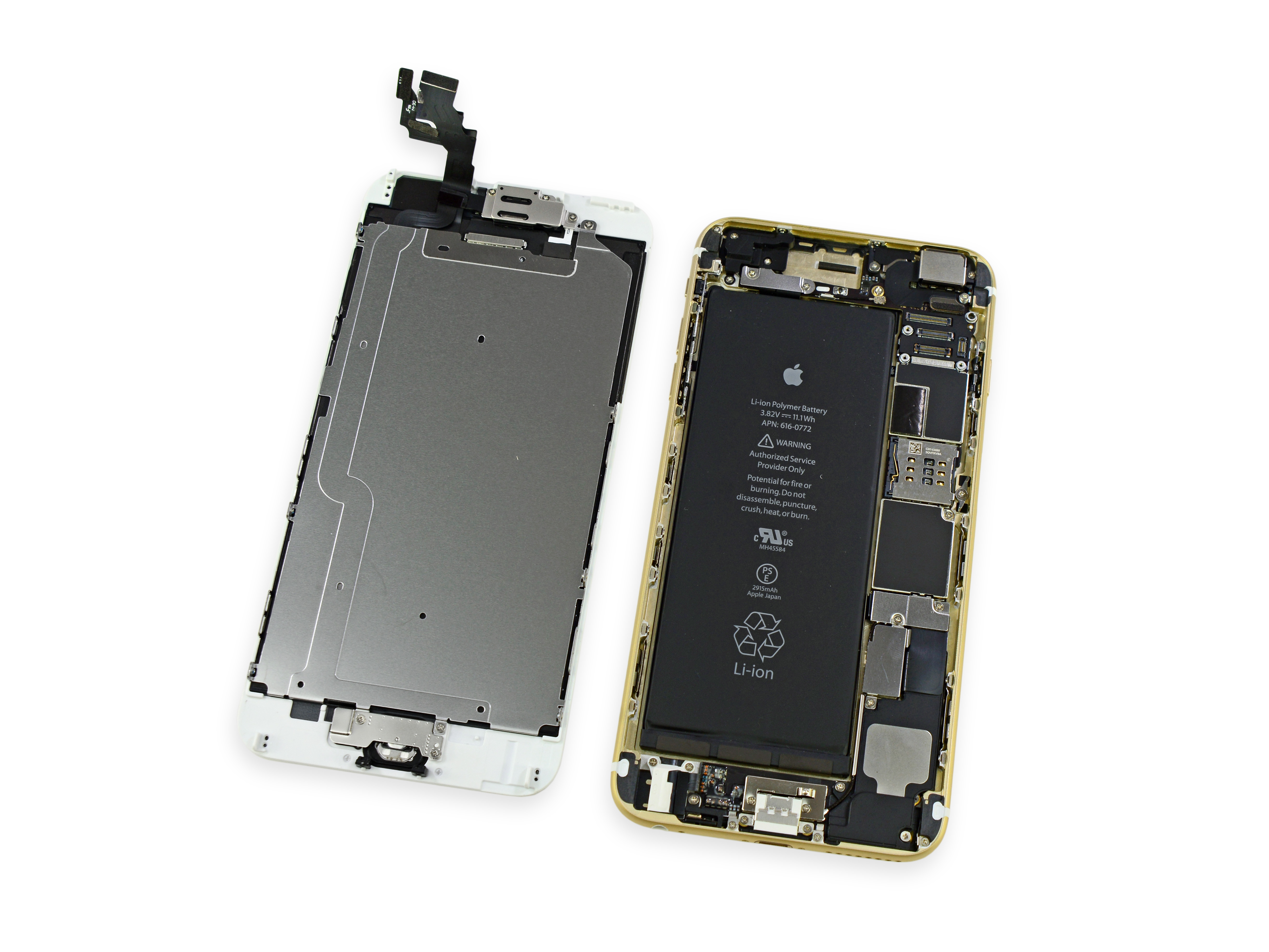 Water Damage Iphone 5 Internal Diagram Electrical Wiring Parts What S Inside The 6 Plus 5c