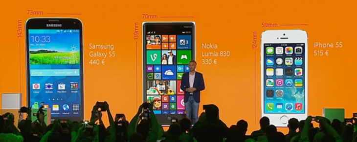 samsung apple wp 730x292 Microsofts Lumia 830 launched with 10MP PureView camera, Lumia Denim firmware and a focus on value