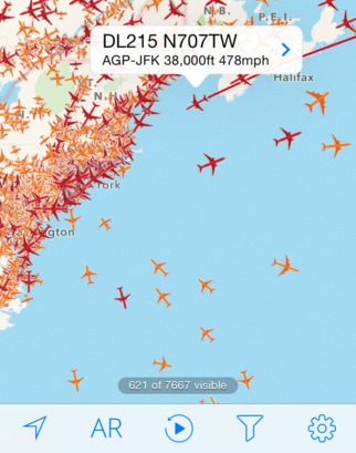 Plane Finder for iOS now lets you replay global air traffic movements all the way back to 2011