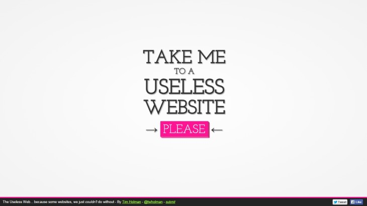 useless web 730x410 Come on a journey to a load of useless websites
