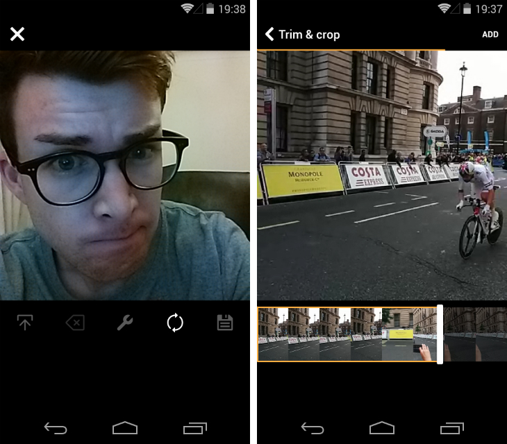 vine1 Vine for Android gets advanced editing tools and the option to import videos