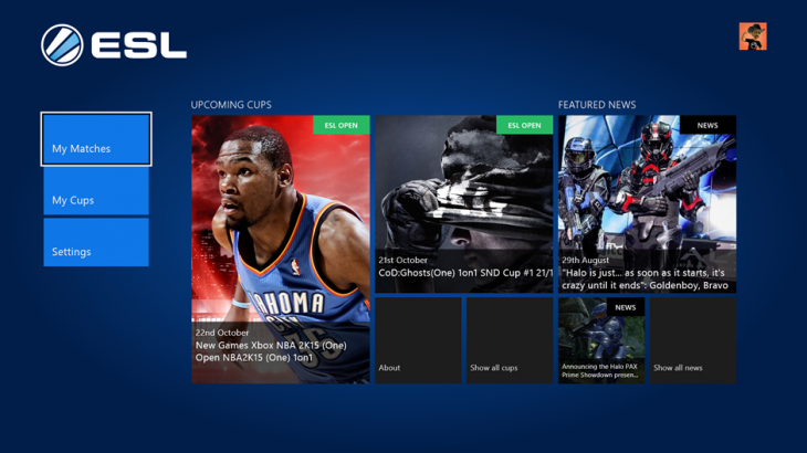 1 ESL Gaming Homescreen 730x410 ESLs eSports app lands on Xbox One, letting you compete directly from your console