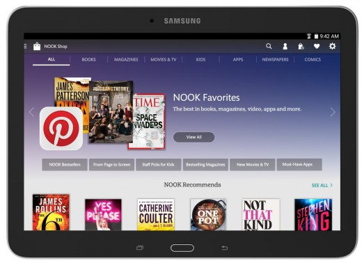 1 SamGal10 Front ShopScreen 520x378 Barnes & Noble launches a 10.1 inch version of its Samsung Galaxy Tab 4 Nook tablet for $299.99