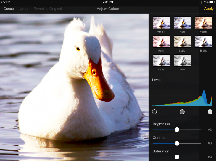 2014 10 23 16.06.29 730x547 Hands on: Pixelmator for iPad is a valuable tool for artists and photographers