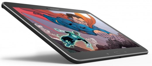 7 SamGal10 LayLeft RSuperman 520x227 Barnes & Noble launches a 10.1 inch version of its Samsung Galaxy Tab 4 Nook tablet for $299.99