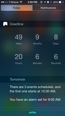 IMG 4270 220x390 Deadline for iPhone taps HealthKit to predict when you're going to die