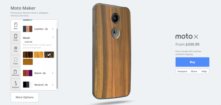 MotoMaker 730x347 You can now design and order the updated Moto X using Moto Maker in the UK