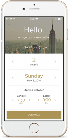 Reserve Hello NYC 220x440 Reserve is a concierge like service for booking restaurants and paying the check