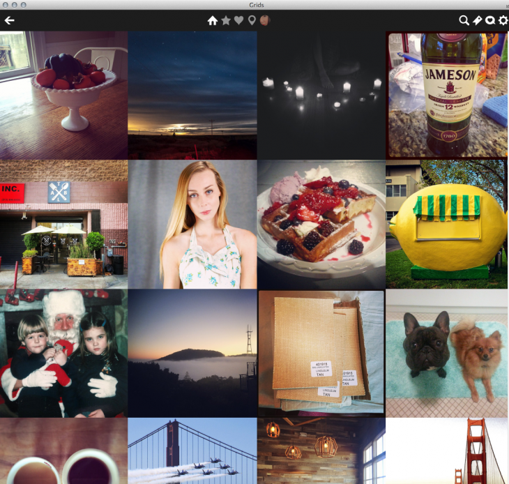 picture of instagram web app