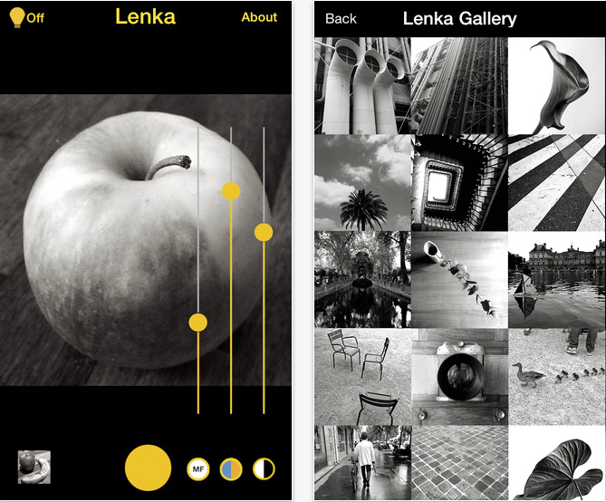 Screen Shot 2014 10 30 at 6.44.25 PM Lenka monochrome camera app upgrade adds controls to a lean interface
