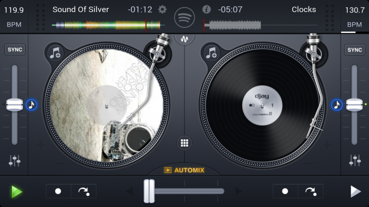 Screenshot 2014 10 27 15 17 43 730x410 Algoriddim finally brings its popular Djay app to Android, create mixes from Spotify or your own music