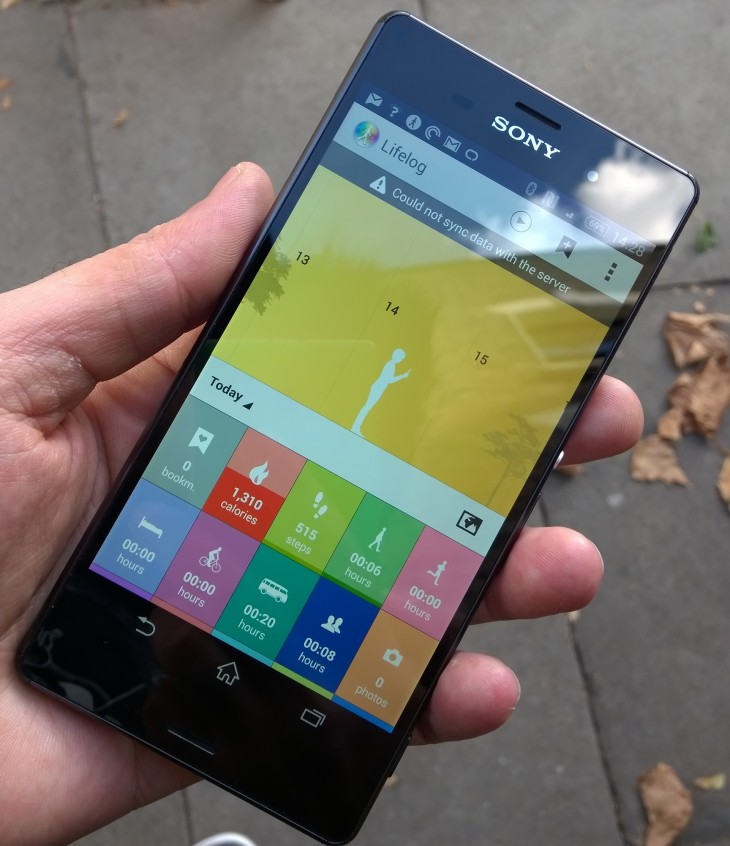Xperia z3 lifelog 730x846 Sony Xperia Z3 review: Iterative upgrades in just the right places