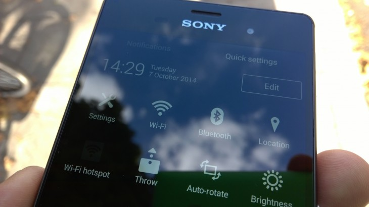 Xperia z3 quick settings 730x410 Sony Xperia Z3 review: Iterative upgrades in just the right places