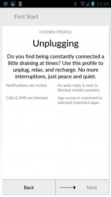 b2 220x391 Offtime for Android wants to help you turn off and tune out