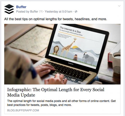 buffer facebook 520x484 The anatomy of the perfect Facebook post: Exactly what to write to get the best results