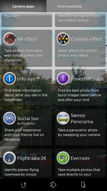 camera apps 220x391 Sony Xperia Z3 review: Iterative upgrades in just the right places