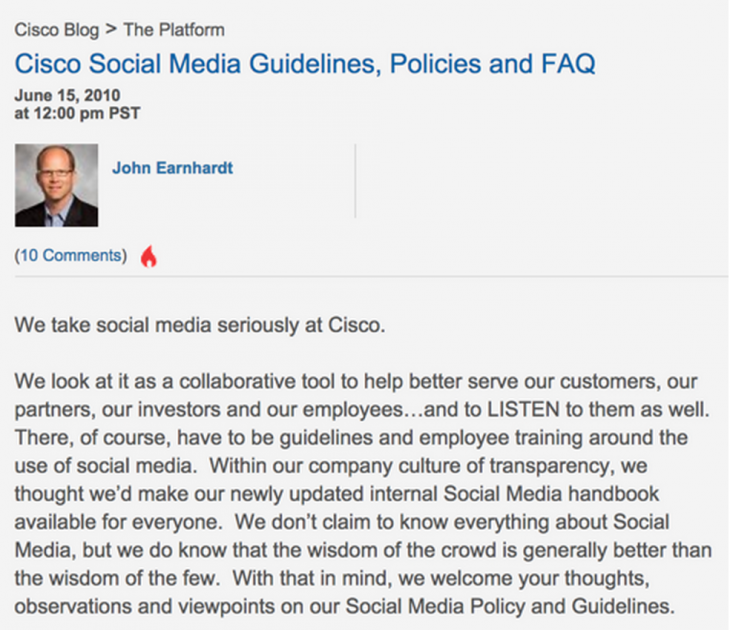 cisco sm 730x630 Let them eat cake: How to let your employees use social media without losing their focus
