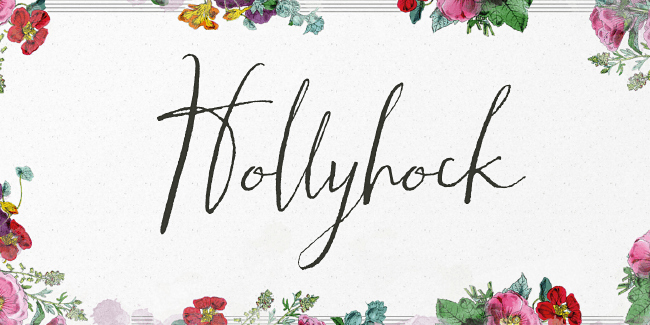 hollyhock 23 of the most beautiful typefaces from September 2014