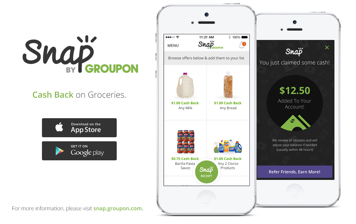 Groupon's Snap App Offers Cash-back on Groceries