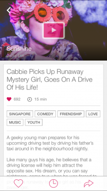 2 Film Page 220x391 Viddsee launches for iPhone to showcase short films from Southeast Asia