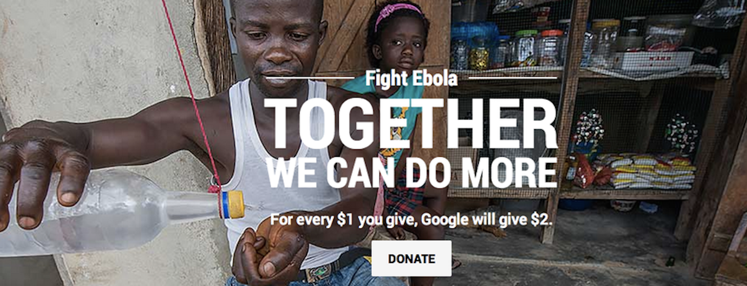 Google launches campaign to fight Ebola, donates $10 million