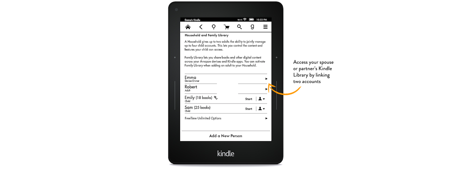 Amazon Kindle Update: Share Books With The Whole Family