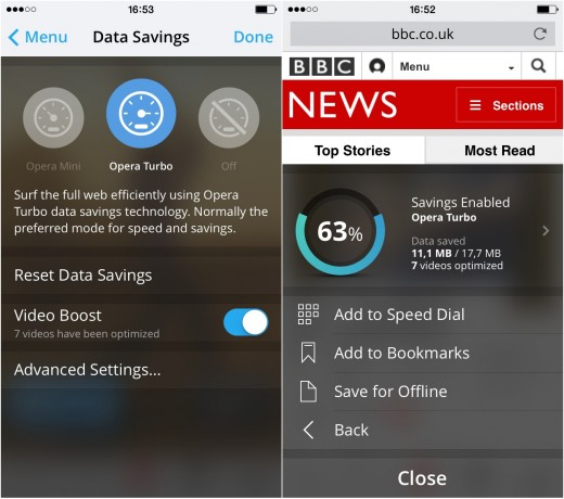 OperaMini 520x460 Opera Mini browser launches v9 on iOS, aims to kills mobile video buffering