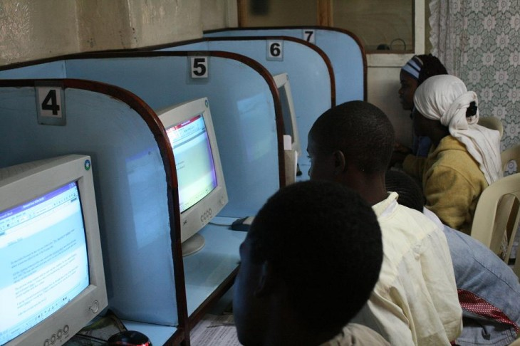 african students internet cafe 730x486 Tech consumers in Africa want good, not good enough