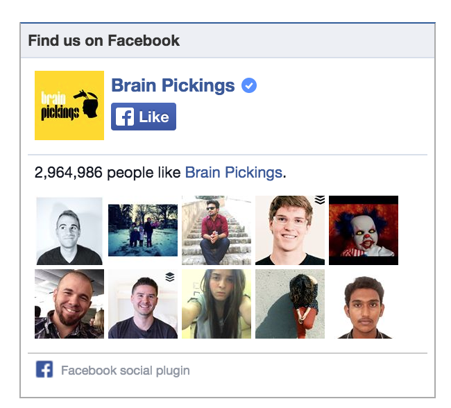 brainpickings like How to get your first 1,000 followers on every social network