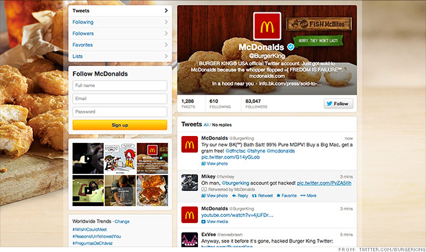 burger king mcdonalds twitter hack The guide to tightening your social media security
