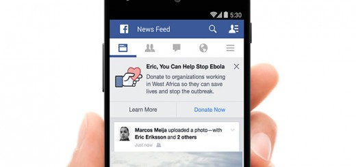 Facebook encourages users to donate to fight Ebola