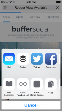 iOS Simulator Screen Shot 8 Oct 2014 17.00.10 576x1024 220x391 44 best mobile apps and tools for marketers: How to manage social media from anywhere