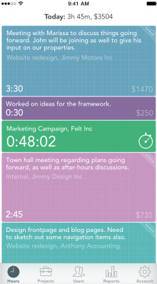 one high 220x398 Timelys timesheet killing iPhone app gets a new look, widget support and more
