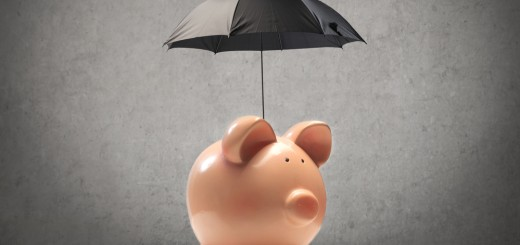 piggy bank rain umbrella