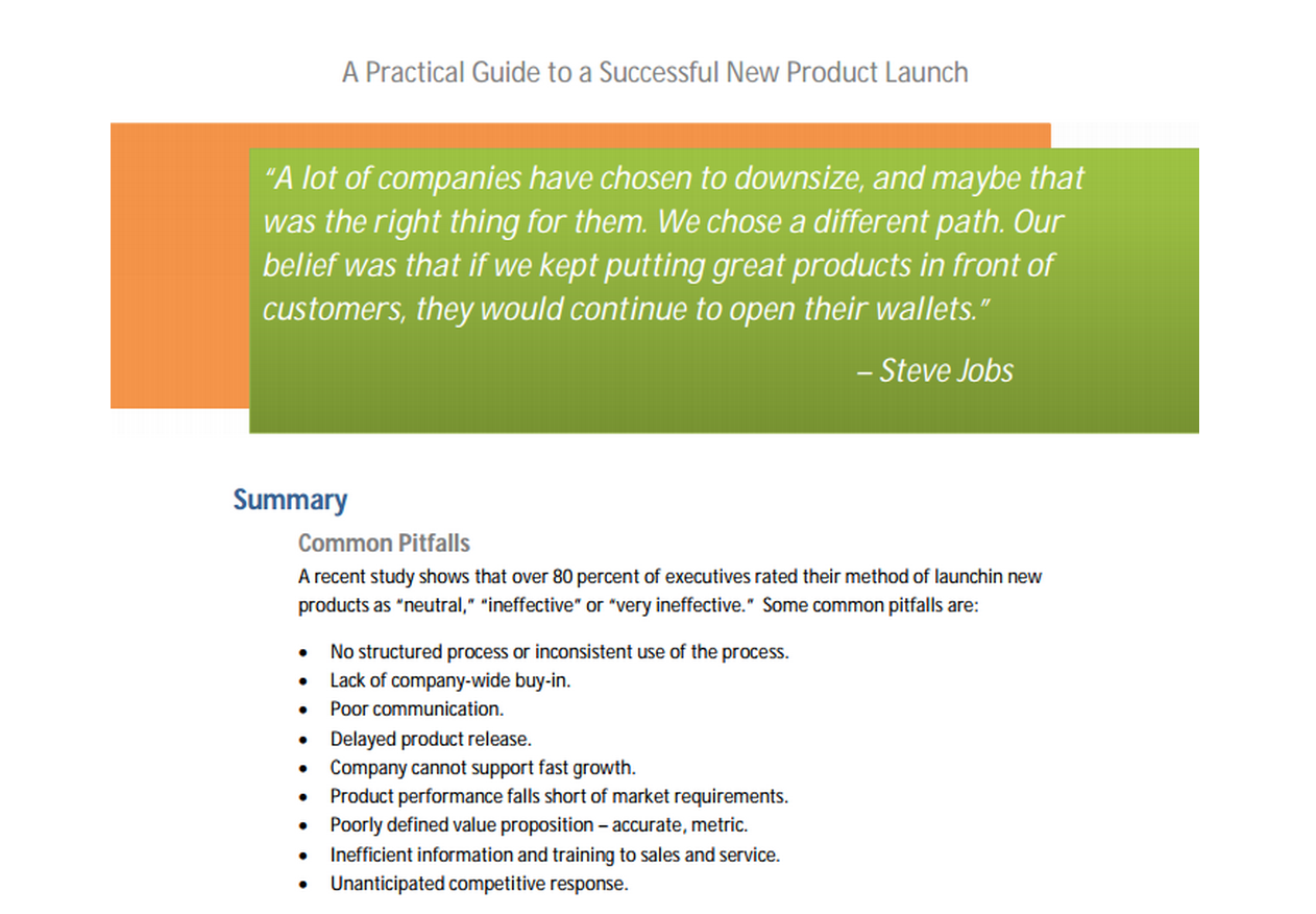 product launch Launching a new product or service isn't as easy as it used to be now that the  market is so crowded here are five steps to run a successful product launch.