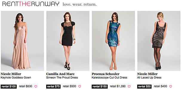 Designer Clothing Rental its online dress rental