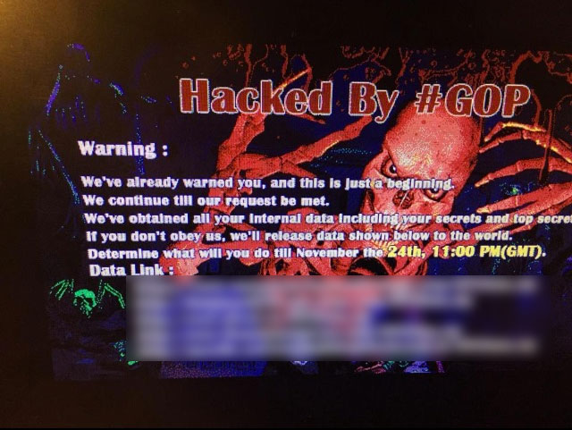 Sony Employees Threatened by GOP Hackers via Email