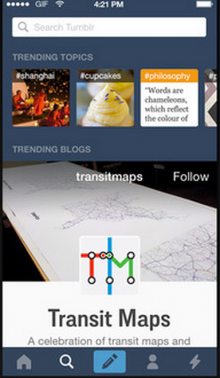 tumblr app 220x378 44 best mobile apps and tools for marketers: How to manage social media from anywhere