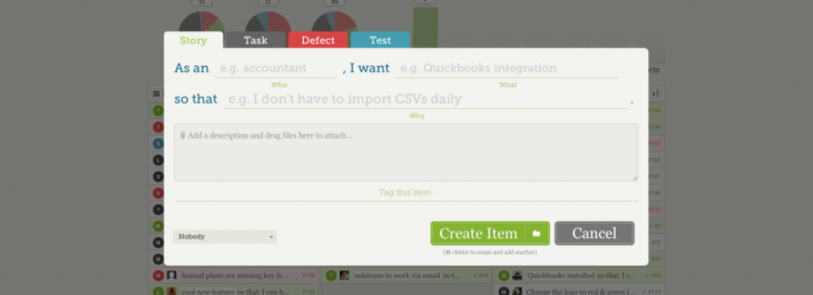 user story on dashboard cropped 1024x373 730x265 Your developers arent slow, your process is
