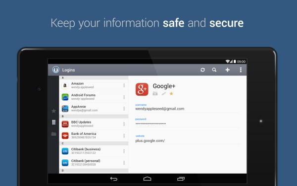 1Password 60 of the best Android apps launched in 2014