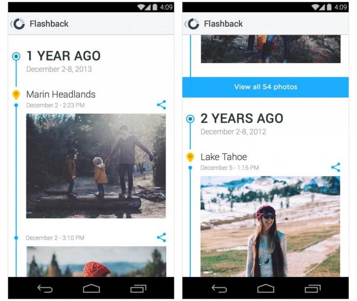 AndroidFlashbackScreenshots 1024x863 730x615 Dropboxs Карусель теперь могут автоматически освободить место для фотографий на вашем устройстве