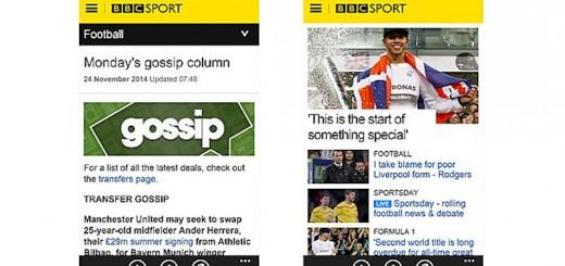 BBC Sport Windows Phone