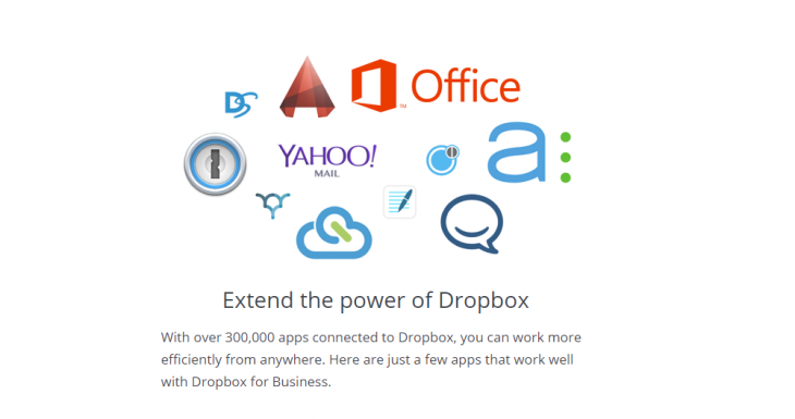 DropboxforBusinessApps 730x385 Dropbox officially opens its API to businesses to allow for deeper integrations