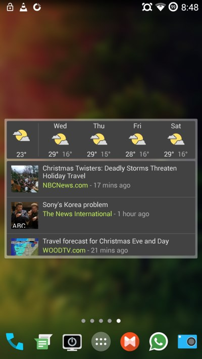 Google News and Weather 60 of the best Android apps launched in 2014